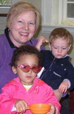 Pam Smith in the Nursery